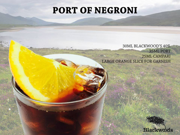 Cocktail Port of Negroni con Blackwood's Vintage Dry Gin 40%