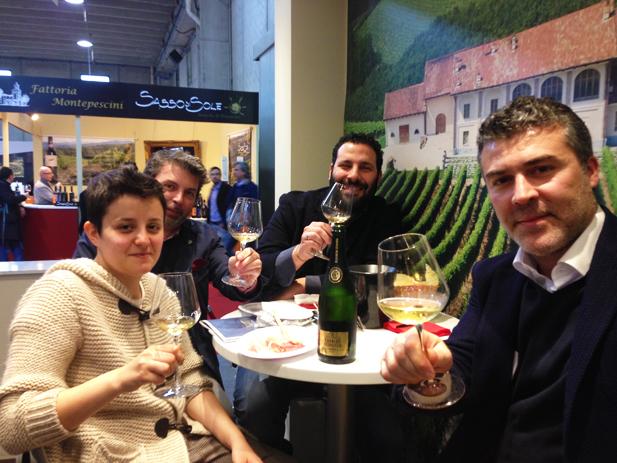 Degustando grandi vini e champagne…